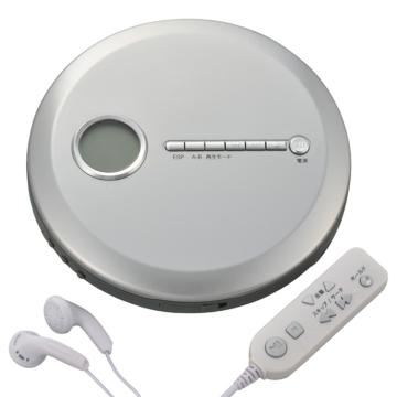 AudioComm ポータブルCDプレーヤー シルバー [品番]07-8172