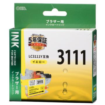 ブラザー互換 LC3111 染料イエロー [品番]01-4328