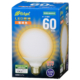 LED電球 ボール形 E26 60形相当 全方向 電球色 [品番]06-3601