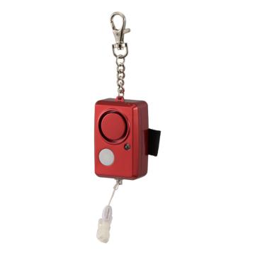 防犯ブザー LEDライト付 大音量95dB レッド [品番]08-0962