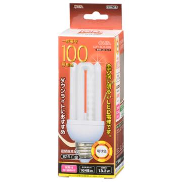 LED電球 D形 E26 100形相当 電球色 [品番]06-1686