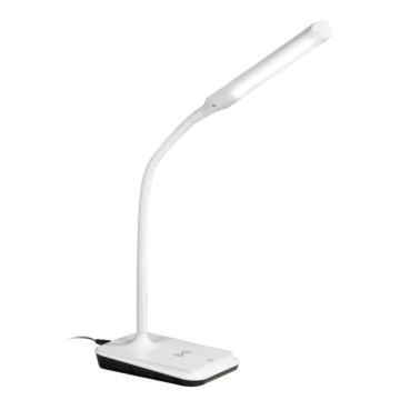 ワイヤレス充電機能付きLEDデスクライト ホワイト [品番]06-3730