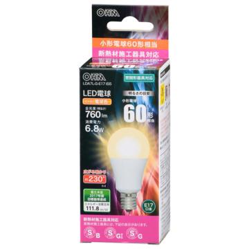 LED電球 小形 E17 60形相当 電球色 [品番]06-3199