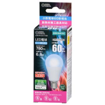 LED電球 小形 E17 60形相当 昼白色 [品番]06-3200