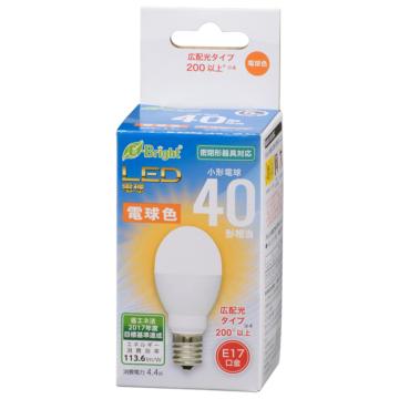 LED電球 小形 E17 40形相当 電球色 [品番]06-3631