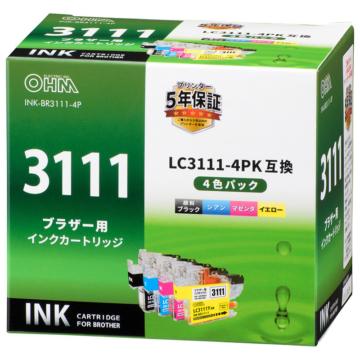 ブラザー互換 LC3111 4色パック [品番]01-3875