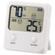デジタル温湿度計 快適表示付き ホワイト [品番]08-0082