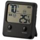 デジタル温湿度計 快適表示付き ブラック [品番]08-0083