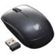 静音ワイヤレスマウス ブルーLED Sサイズ ブラック [品番]01-3598