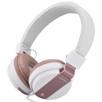 AudioComm ステレオヘッドホン 折りたたみ式 ピンク [品番]03-1685