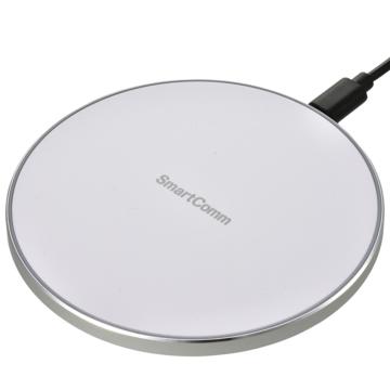 SmartComm ワイヤレス充電器 急速充電対応 ホワイト [品番]03-3084