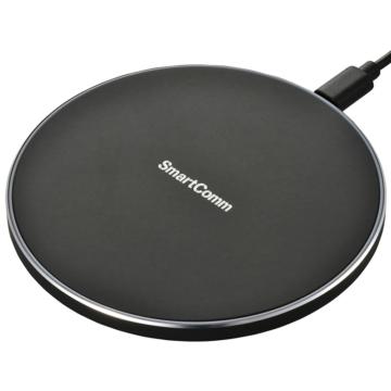 SmartCommワイヤレス充電器 急速充電対応 ブラック [品番]03-3085
