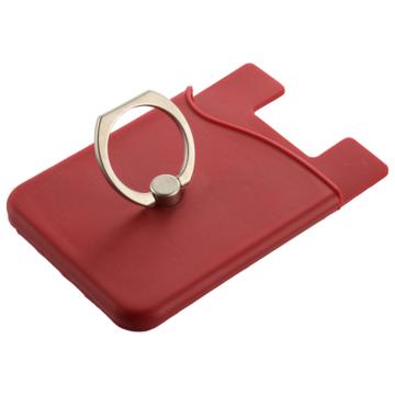 カードケース付きモバイルリング レッド [品番]03-0398