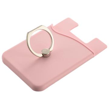 カードケース付きモバイルリング ピンク [品番]03-0399