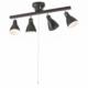 4灯シーリングライト LED電球付 ブラック [品番]06-1462