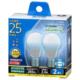 LED電球 小形 E17 25形相当 昼光色 2個入り [品番]06-3436
