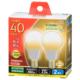 LED電球 小形 E17 40形相当 電球色 2個入り [品番]06-3439