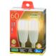 LED電球 T形 E17 60形相当 電球色 2個入 [品番]06-3741
