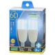 LED電球 T形 E17 60形相当 昼光色 2個入 [品番]06-3742
