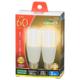 LED電球 T形 E26 60形相当 電球色 2個入 [品番]06-3749