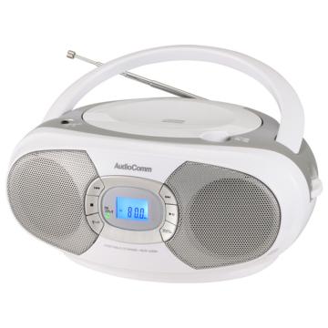 AudioComm ステレオCDラジオ シルバー [品番]03-7231