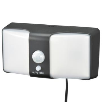monban LEDセンサーウォールライト ソーラー式 ブラック [品番]06-4215