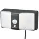 monban LEDセンサーウォールライト ソーラー 360lm ブラック [品番]06-4215