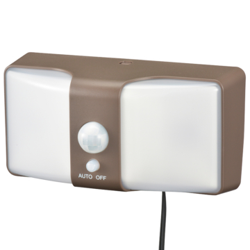 monban LEDセンサーウォールライト ソーラー 360lm ブラウン [品番]06-4216