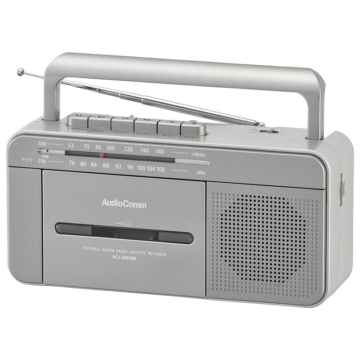 AudioComm ポータブルラジオカセットレコーダー [品番]07-8923