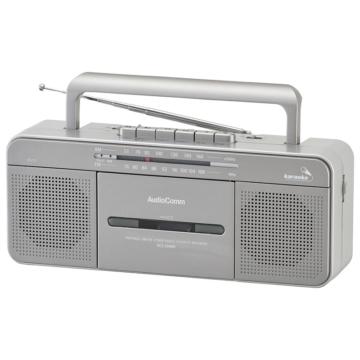 AudioComm ポータブルステレオラジオカセットレコーダー [品番]07-8924
