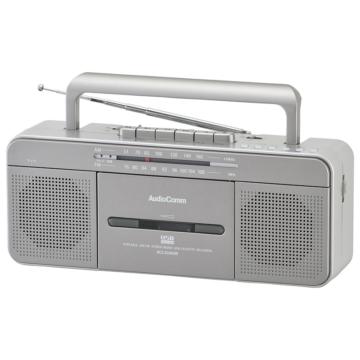 AudioComm ポータブルステレオラジオカセットレコーダー USB再生・録音対応 [品番]07-8925