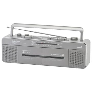 AudioComm ステレオダブルカセットレコーダー [品番]07-8926