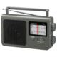 AudioComm AM/FMポータブルラジオ グレー [品番]03-1688