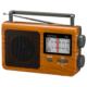 AudioComm AM/FMポータブルラジオ 木目調 [品番]03-1689