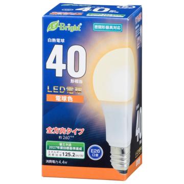 LED電球 E26 40形相当 全方向 電球色 [品番]06-4340