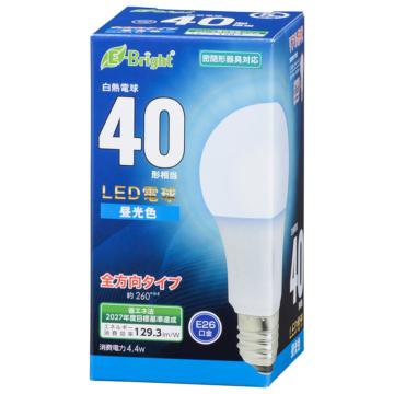 LED電球 E26 40形相当 全方向 昼光色 [品番]06-4342