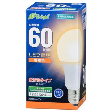LED電球 E26 60形相当 全方向 電球色 [品番]06-4343
