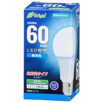 LED電球 E26 60形相当 全方向 昼光色 [品番]06-4345