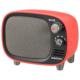 AudioComm Bluetoothスピーカー レトロ レッド [品番]03-0395