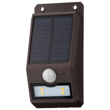 monban ソーラーセンサーウォールライト110lm 薄型ブラウン [品番]06-4225