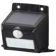 monban ソーラーセンサーウォールライト110lm 置型ブラック [品番]06-4226