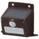 monban ソーラーセンサーウォールライト110lm 置型ブラウン [品番]06-4227