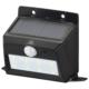 monban ソーラーセンサーウォールライト200lm 置型ブラック [品番]06-4230