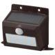 monban ソーラーセンサーウォールライト200lm 置型ブラウン [品番]06-4231