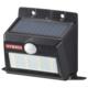 monban ソーラー&乾電池センサーウォールライト 400lm 置型ブラック [品番]06-4234