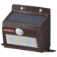 monban ソーラー&乾電池センサーウォールライト 400lm 置型ブラウン [品番]06-4235