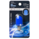 LEDナツメ球装飾用/T20/E12/0.5W/1lm/青色 [品番]06-4606