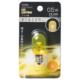 LEDナツメ球装飾用/T20/E12/0.5W/13lm/クリア黄色 [品番]06-4612