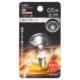 LEDミニボール球装飾用 G30/E12/0.5W/15lm/クリア電球色 [品番]06-4620