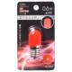LEDナツメ球装飾用 T20/E17/0.8W/4lm/赤色 [品番]06-4624